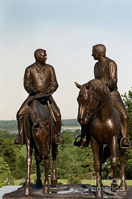 Nauvoo Statue Photograph - Calm As A Summers Morning Hyrum And Joseph Smith Bronze Sculpture by Kim Corpany