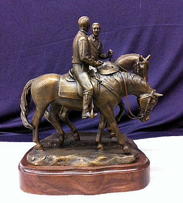 Joseph Smith Bronze Sculpture - Calm As A Summers Morning Prophets Last Ride by Kim Corpany