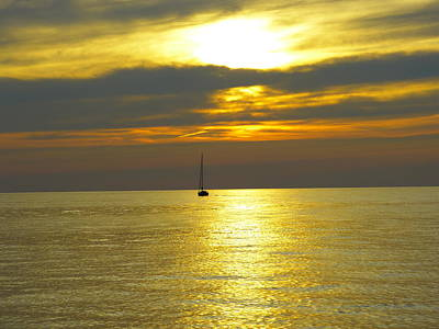 Art Print featuring the photograph Calm Before Sunset Over Lake Erie by Donald C Morgan