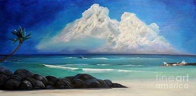 San Diego Artist Painting - Calm Before The Storm by Herbert Chow