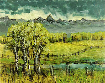 Wyoming Painting - Calm Before The Storm by Steve Spencer