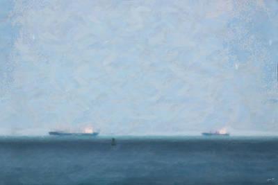 Calm Blue Lake 1 Art Print by Chamira Young