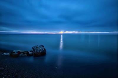 By Jackie Photograph - Calm Blue Waters by Jackie Sajewski