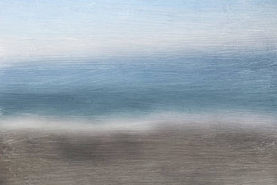 Abstract Landscape Mixed Media - Calm Coast 2-  Art By Linda Woods by Linda Woods