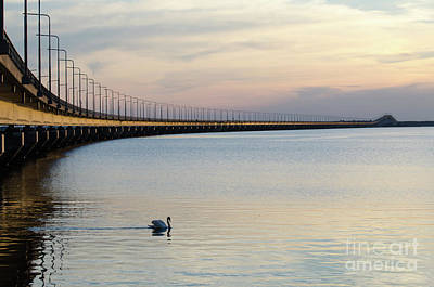 Calm Evening By The Bridge Art Print by Kennerth and Birgitta Kullman