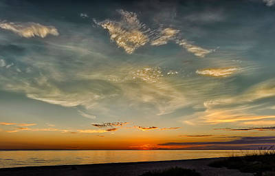 Southwest Florida Sunset Photograph - Calm Gulf Waters Sunset by Frank J Benz