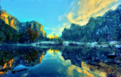 Composure Painting - Calm Lake by Armin Sabanovic