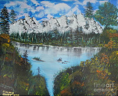 Painting - Calm Lake by Jimmy Clark