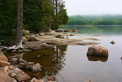 Photograph - Calm Moment On Eagle Lake In Acadia by Polly Castor