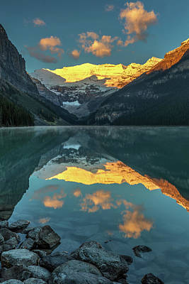 Photograph - Calm Morning At Lake Louise by Pierre Leclerc Photography