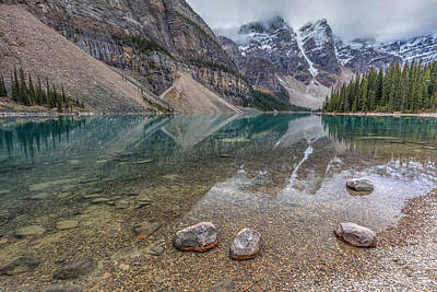 Photograph - Calm Morning At Moraine Lake by Pierre Leclerc Photography