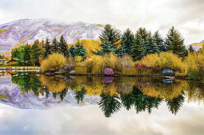 Photograph - Calm Morning - Aspen Colorado Mountain Landscape by Gregory Ballos