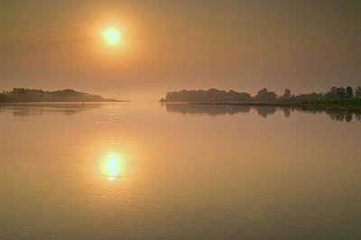 Desna Photograph - Calm Morning On River by Oleksandr Chernii