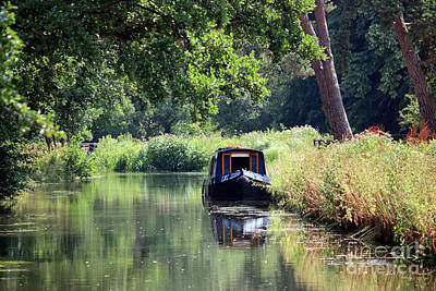 Photograph - Calm On The Wey Canal  by Julia Gavin