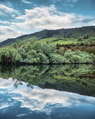 Photograph - Calm Pond - Cloud Reflections II by Jay Blackburn
