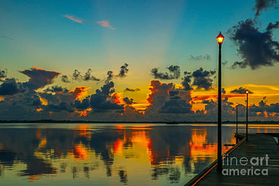 St. Lucie River Photograph - Calm River Sunrise by Tom Claud