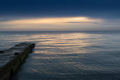 Photograph - Calm Sea And Walkway by John Williams