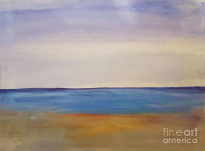 Painting - Calm Sea At Beach by Donna Walsh