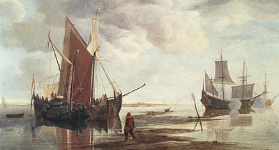 Reflecting Water Painting - Calm Sea by Hendrick Dubbels