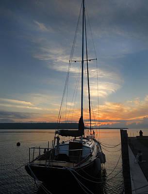 Bay Photograph - Calm Sunset by David T Wilkinson