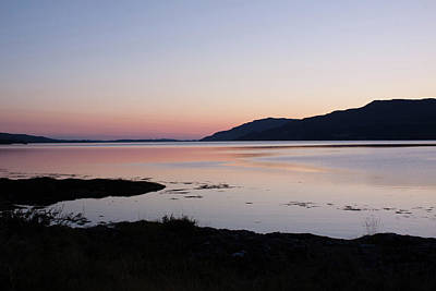 Photograph - Calm Sunset Loch Scridain by Peter Walkden