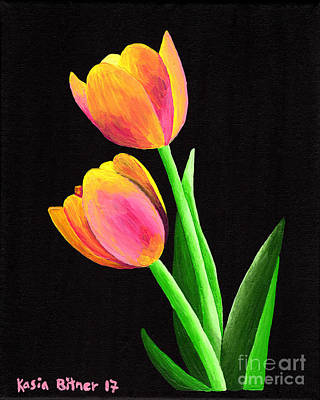 Painting - Calm Tulips by Kasia Bitner
