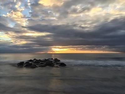 Photograph - Calm Water Rock by Juan Montalvo