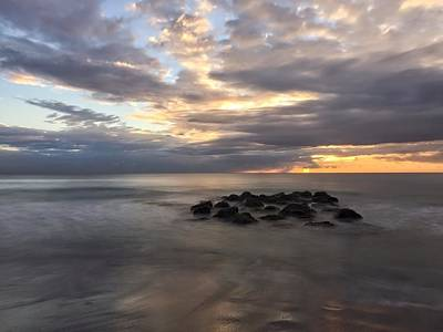 Photograph - Calm Water Rock To The Right by Juan Montalvo