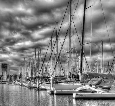 Photograph - Calm Waters Ala Wai Harbor Waikiki Yacht Club Hawaii Collection Art by Reid Callaway