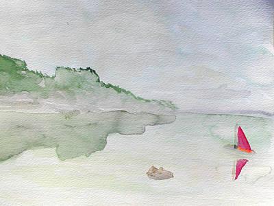 Wall Art - Painting - Calm Waters by Helen Krummenacker