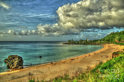 Photograph - Calm Waters Waimea Bay Sunset Hawaii Collection Art by Reid Callaway