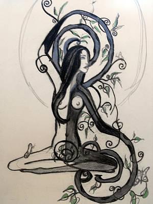 Stillness Drawing - Calmed by Cat Jackson