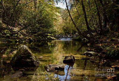 Print featuring the photograph Calmer Water by Douglas Stucky