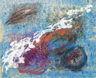 Calming Abstract 2 Of 5 Art Print by Beth Maddox