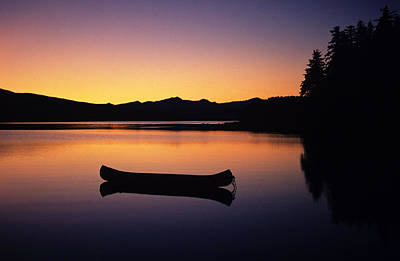 Photograph - Calming Canoe by John Hyde - Printscapes