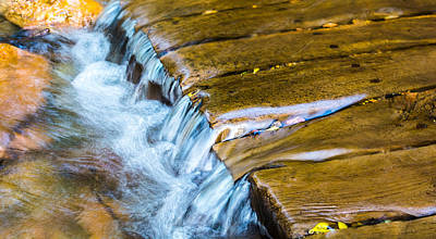 Photograph - Calming Cascade by Rhys Arithson