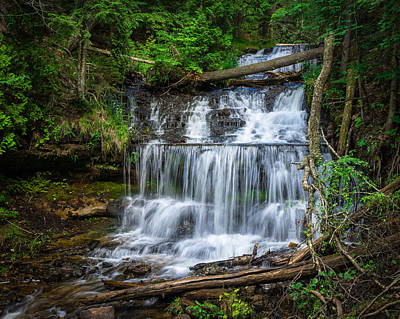 Photograph - Calming Cascade - Wagner Falls by Bill Pevlor