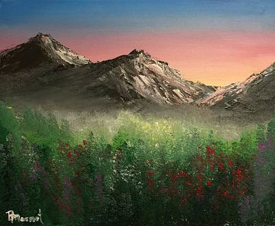 Smokey Mountains Painting - Calming Sunrise by Bridget Marnet Powell