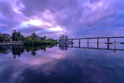 Water Photograph - Caloosahatchee Mirror by Michael Frizzell