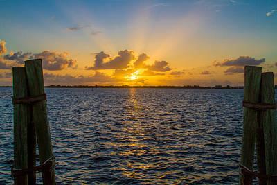 Sea Photograph - Caloosahatchee Sunset By Darrell Hutto by J Darrell Hutto