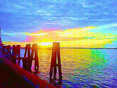 Surf Lifestyle Mixed Media - Caloosahatchee Sunset by Chris Andruskiewicz
