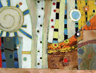 Subterranean Painting - Caloris by Lory MacDonald