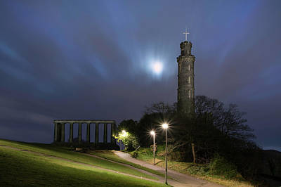 Photograph - Calton Hill At Night by Veli Bariskan