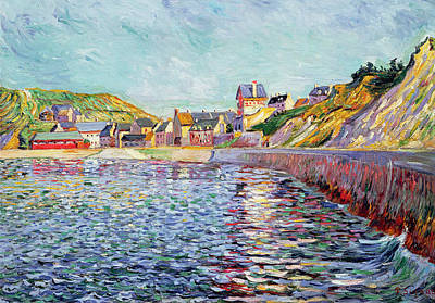 Pointillist Painting - Calvados by Paul Signac