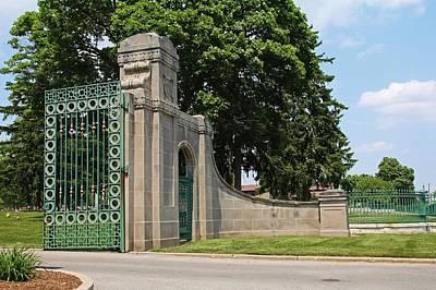 Photograph - Calvary Cemetery Gate IIi by Michiale Schneider