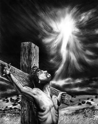 Drawing - Calvary by Peter Piatt