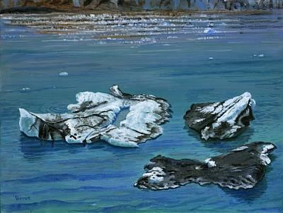 Calved Glaciers Alaska Art Print by Vidyut Singhal