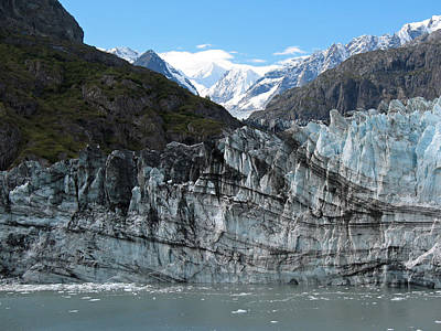 Photograph - Glacier Bay Seascapes. Calved Margerie Glacier by Connie Fox