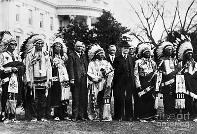 Photograph - Calvin Coolidge (1872-1933) by Granger