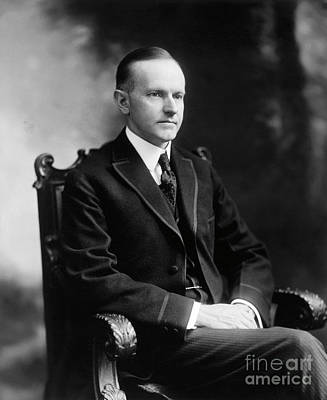 Photograph - Calvin Coolidge by Granger